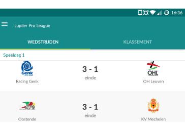 App van de maand: Sporza Voetbal