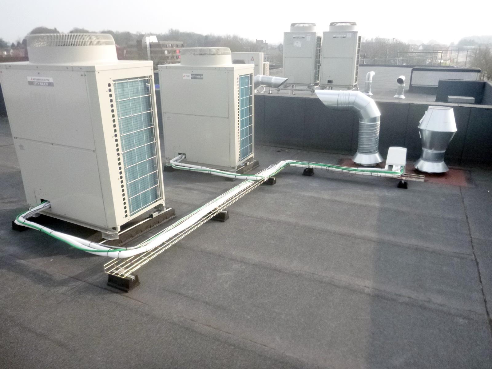 Eerste City Multi H-VRF-systeem in België geplaatst