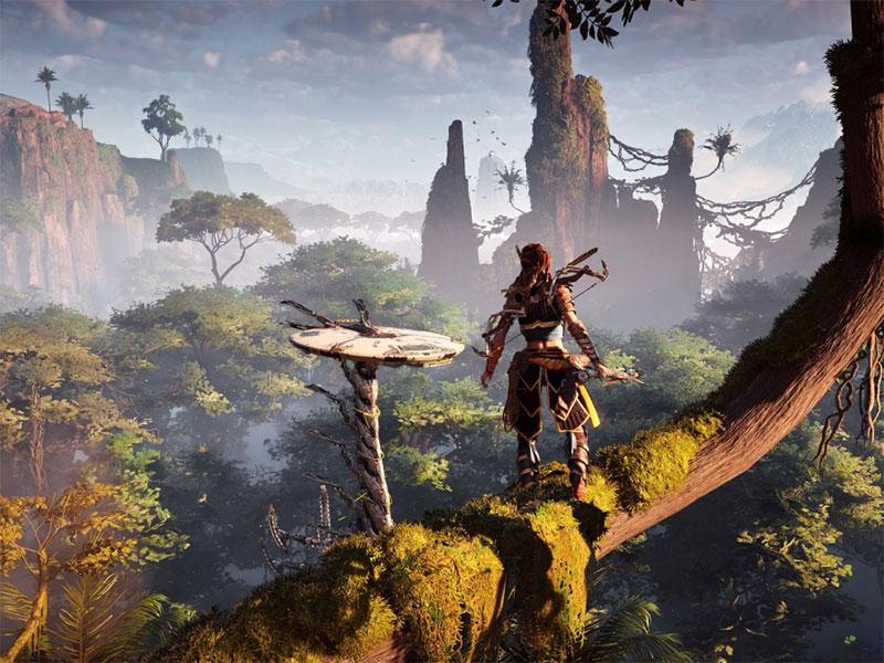 Horizon Zero Dawn, een van de 4K HDR-games