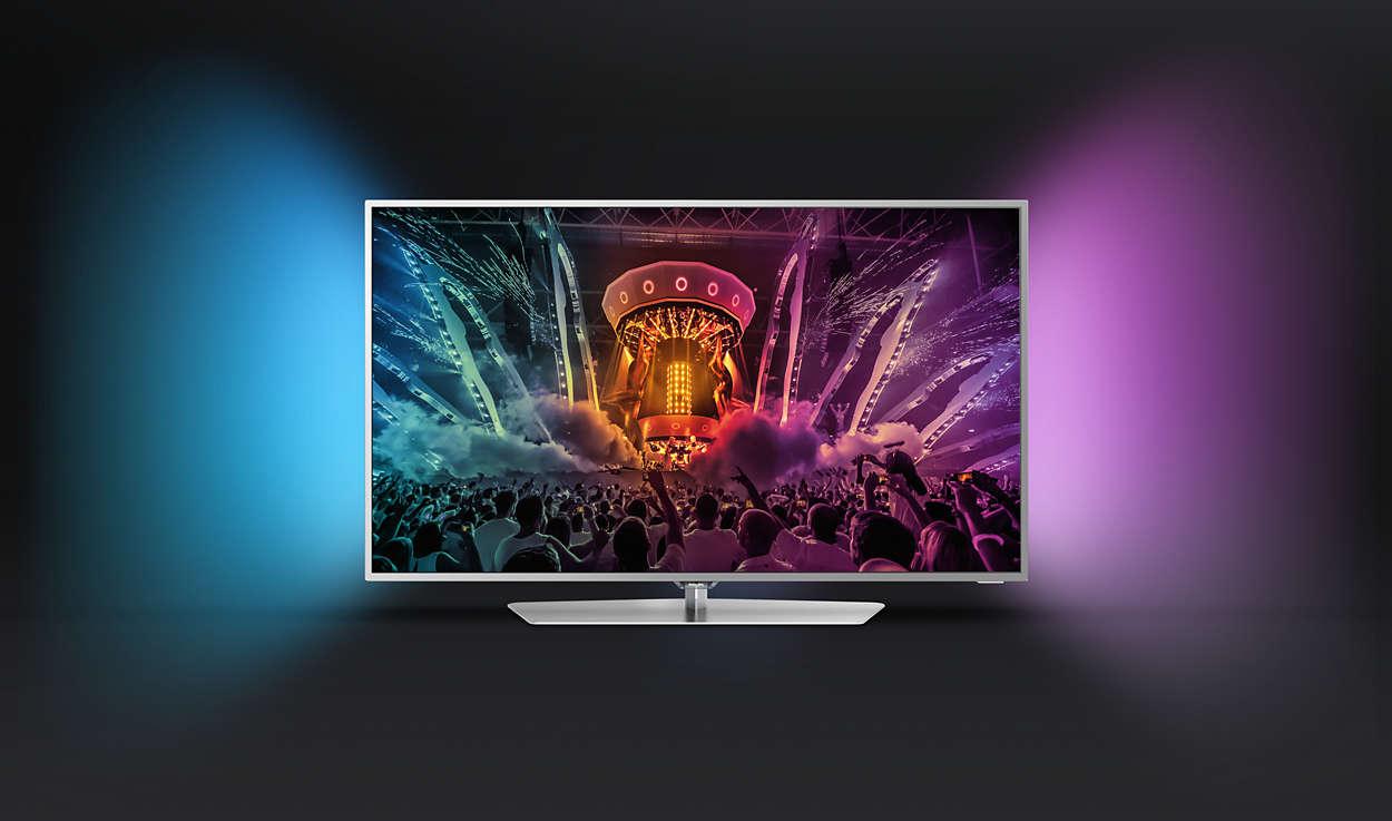 philips 55pus6551 betaalbare 4k tv met ambilight. Black Bedroom Furniture Sets. Home Design Ideas