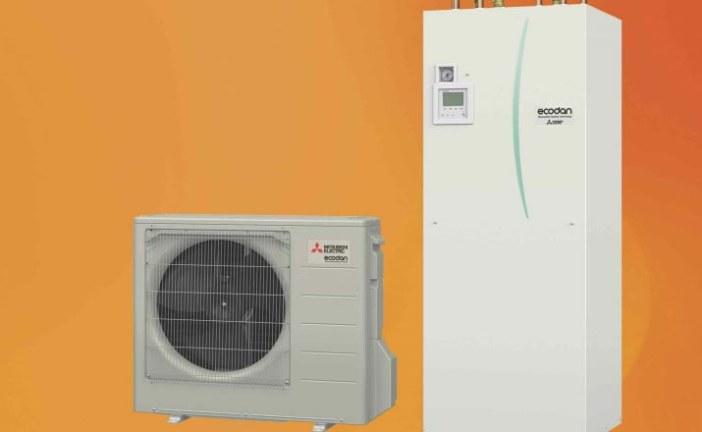 Duurzaam warm water met de Ecodan warmtepomp op basis van CO2