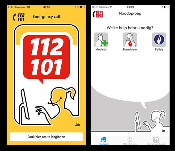 Belgische hulpdiensten bereikbaar via eigen app, App112