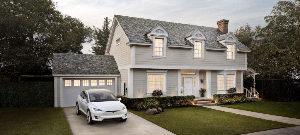 Tesla Solar Roof dakpan leisteen