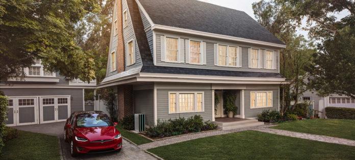 Tesla Solar Roof dakpan gestructureerd