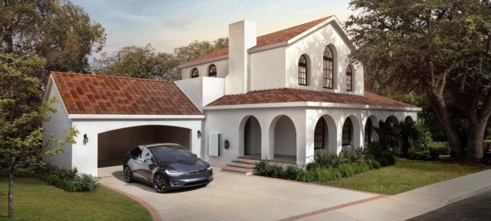 Tesla Solar Roof dakpan Toscaans