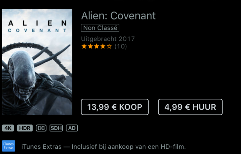 Alien Covenant HDR 4K
