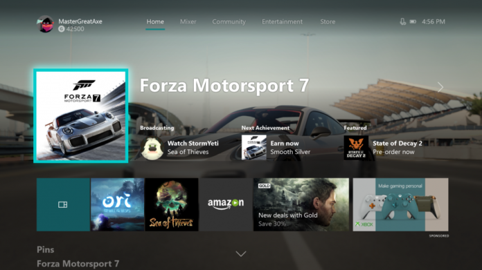 Xbox Home Light Theme