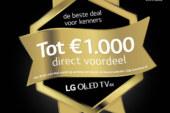 Deal alert: Bespaar tot 1000 euro op LG OLED televisies