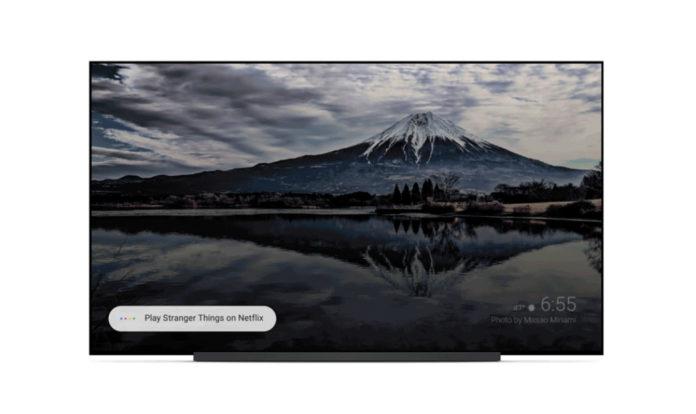 google assistant op Sony tv